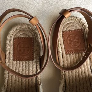 Tory Burch Shoes - Never worn Tory Burch espadrille sandals size 8